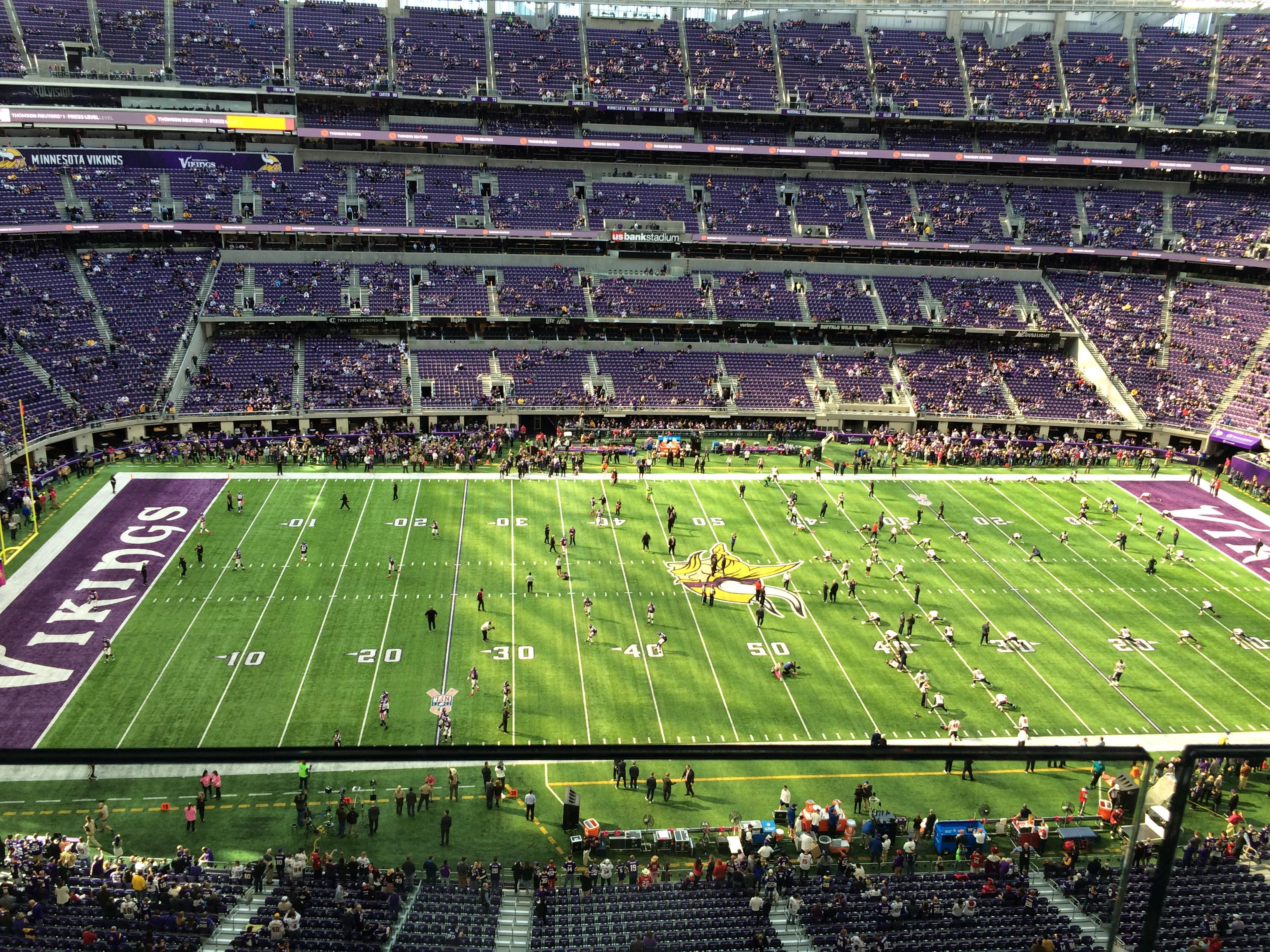U.S. Bank Stadium Section 313 Row 1 Seat 17