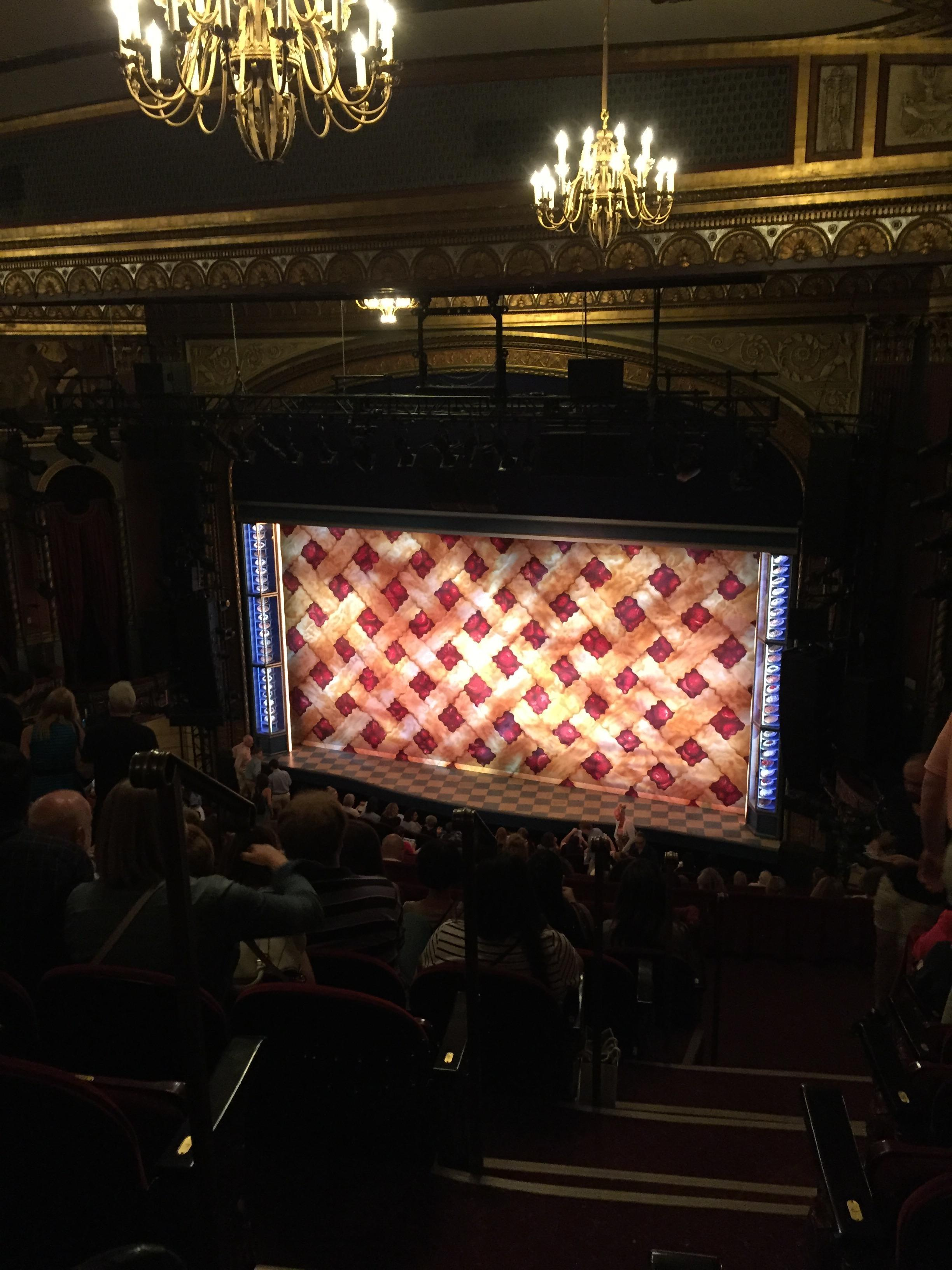 Brooks Atkinson Theatre Section Rear Mezz Right Row L Seat 2