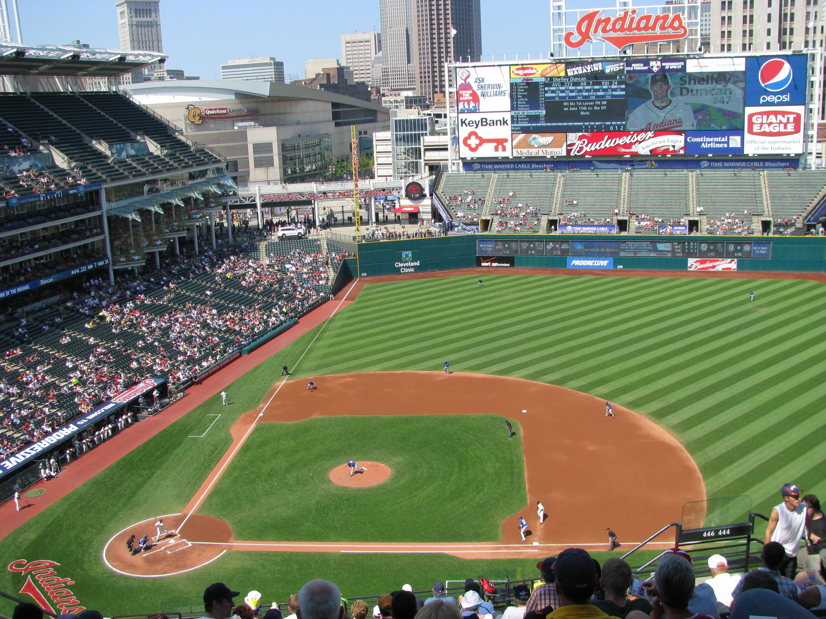 Progressive Field Section 546 Row M Seat 19 Cleveland Indians Vs Kansas City Royals Shared By Sgtpepper3780