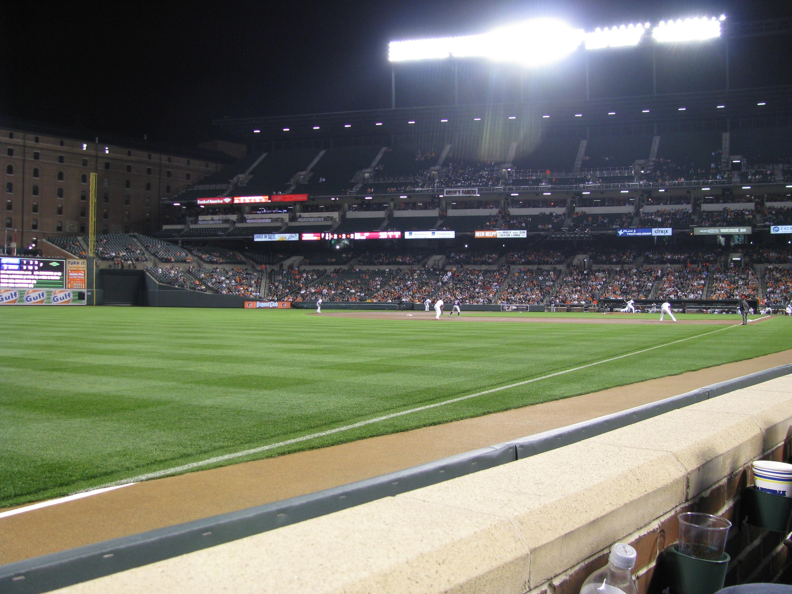 Oriole Park At Camden Yards Section 68 Row 1 Seat 14 Baltimore Orioles Vs Minnesota Twins
