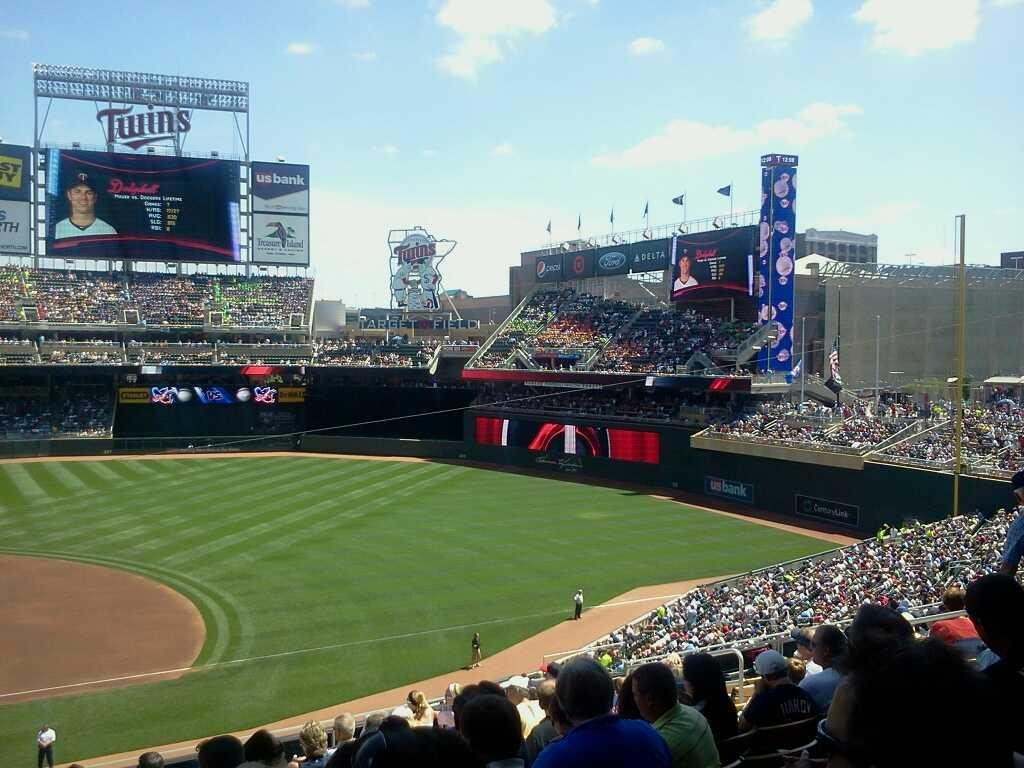Target Field Section B Row 11 Seat 13