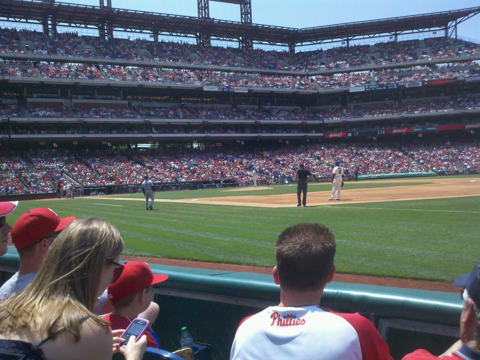 Citizens Bank Park Section 112 Row 3 Seat 7