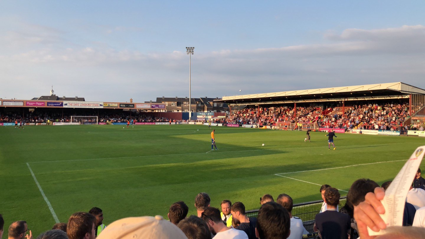 Bootham Crescent Section Away Standing Row Turnstiles 14 to 21 Seat 766