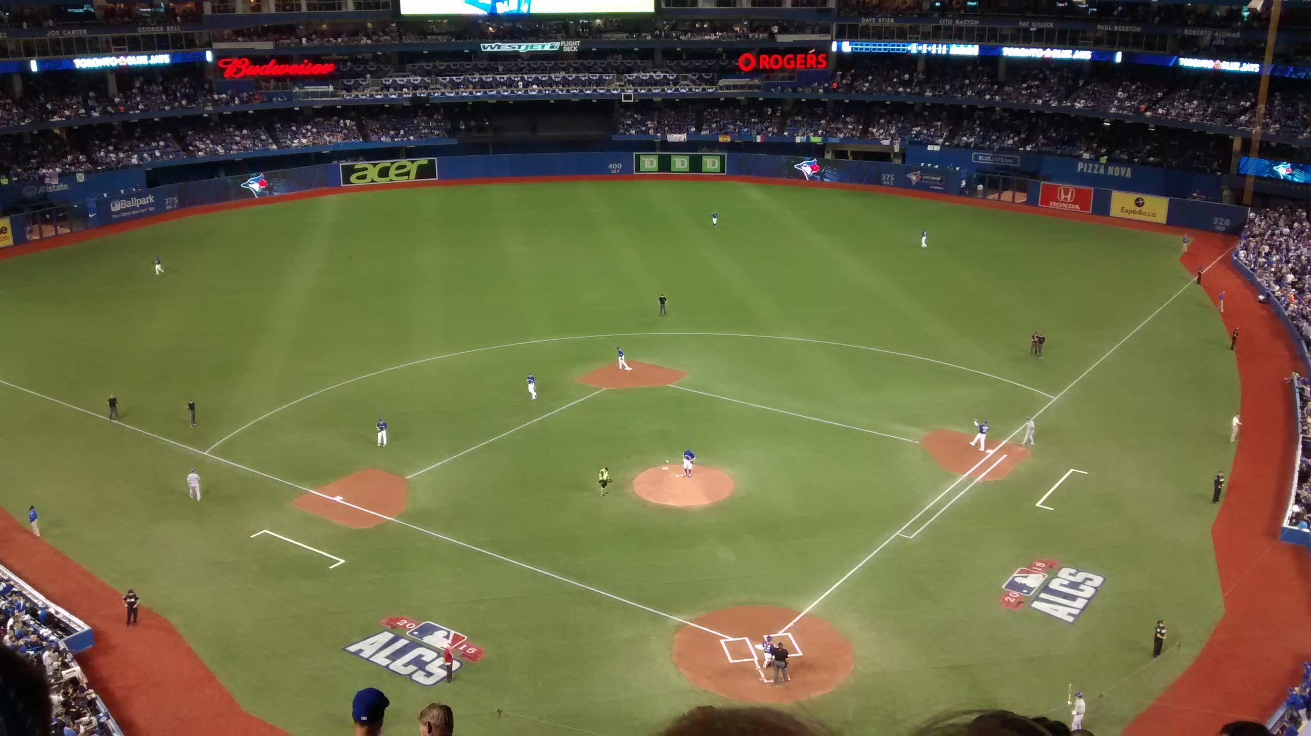 Rogers Centre Section 525L Row 9 Seat 110