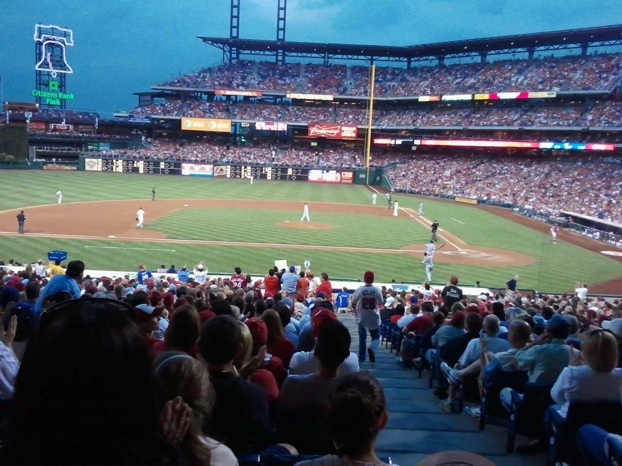 Citizens Bank Park Section 130 Row 33 Seat 1