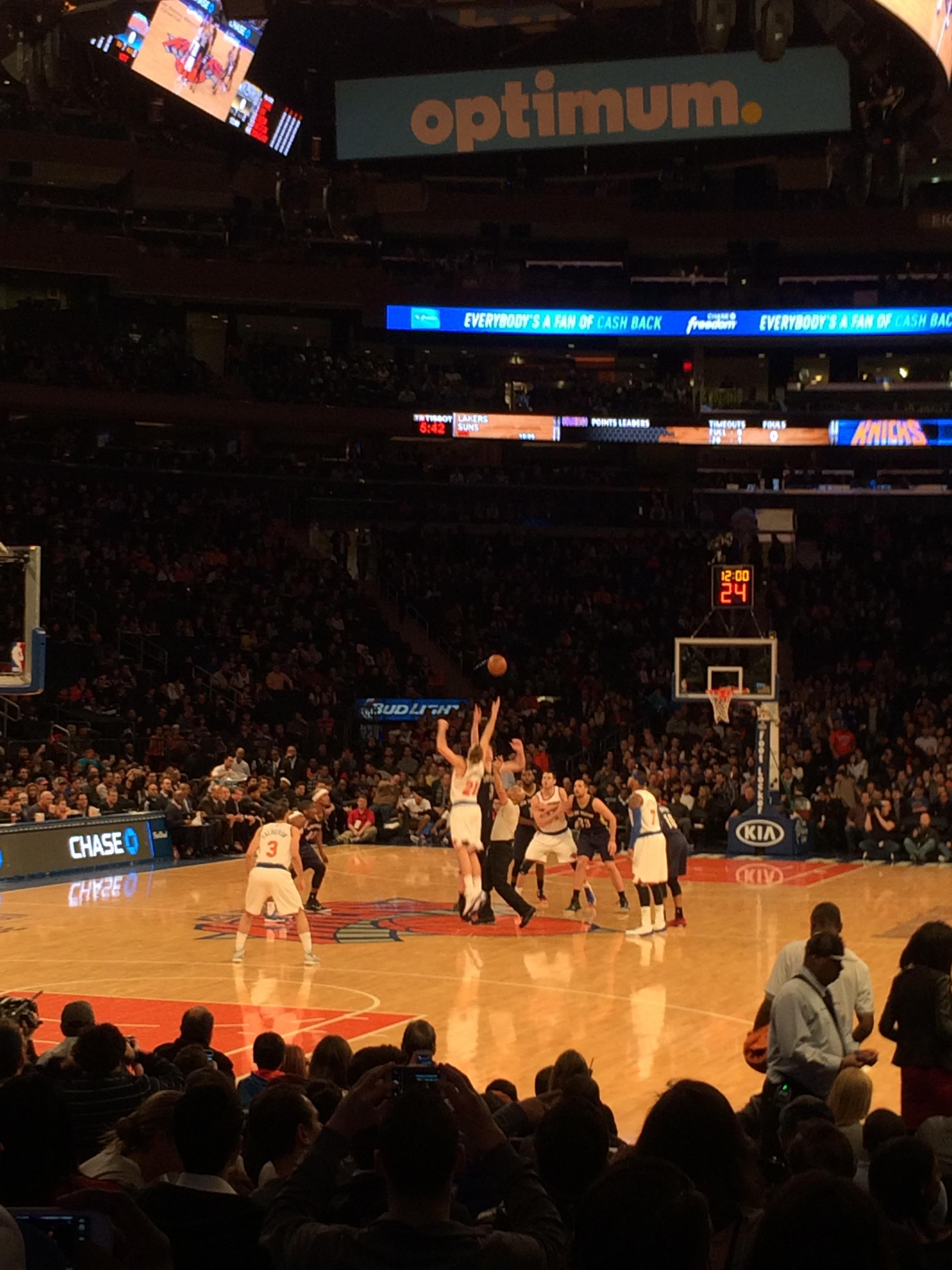 Madison Square Garden Section 9 Row 13 Seat 9 New York Knicks Vs New Orleans Pelicans Shared