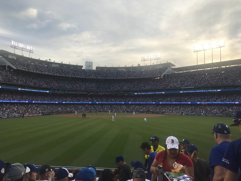 Dodger Stadium Section 312PL Row F Seat 18