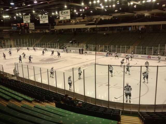 Munn Ice Arena Section h Row 15 Seat 4