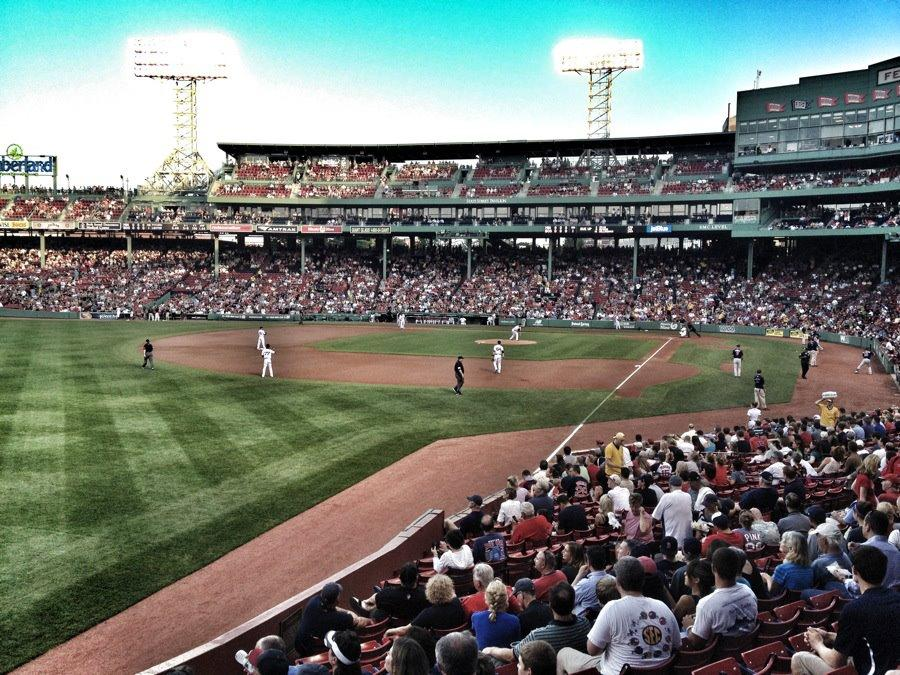 Fenway Park Section Grandstand 32 Row MM Seat 5