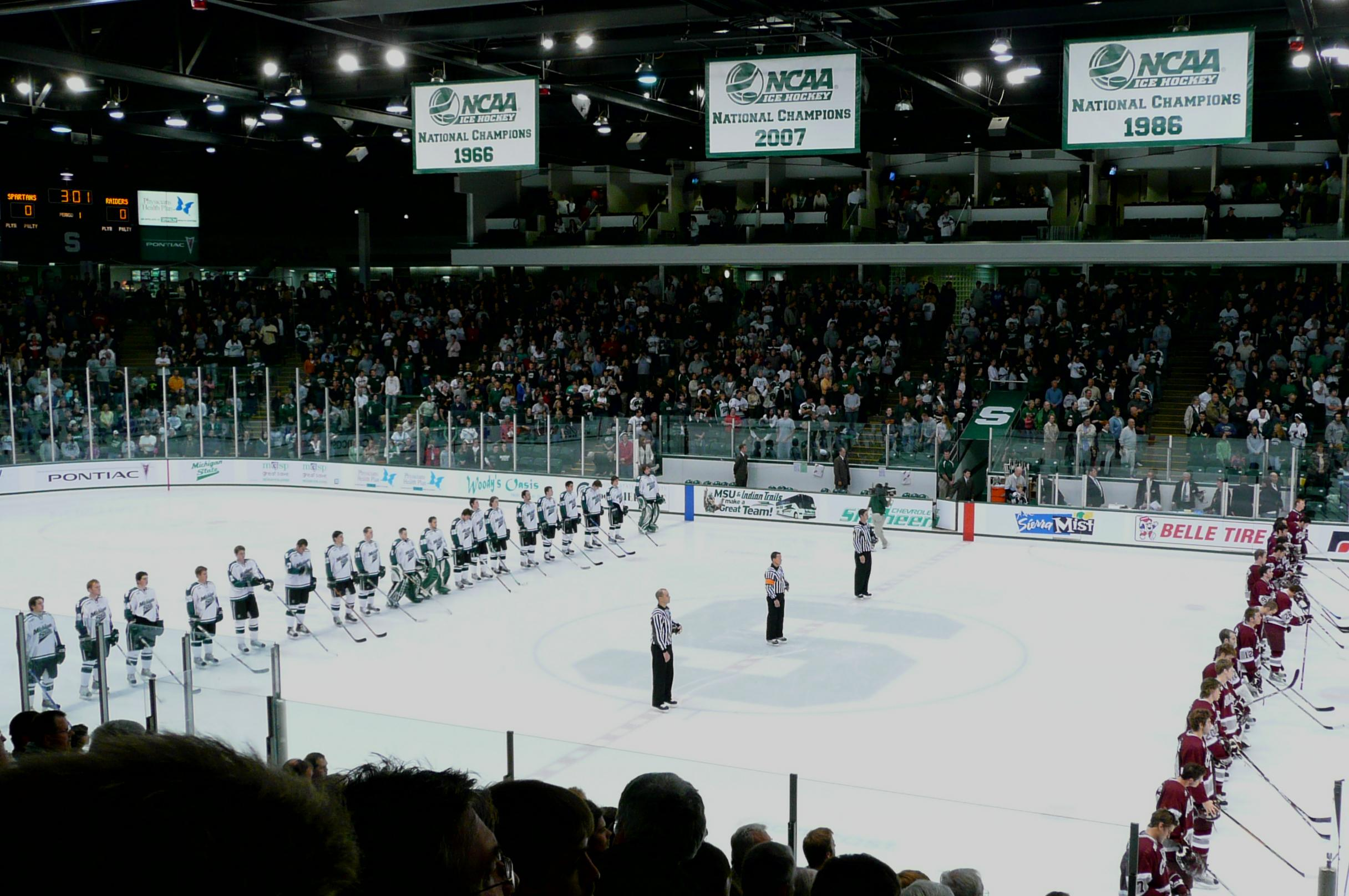 Munn Ice Arena Section H Row 14 Seat 16