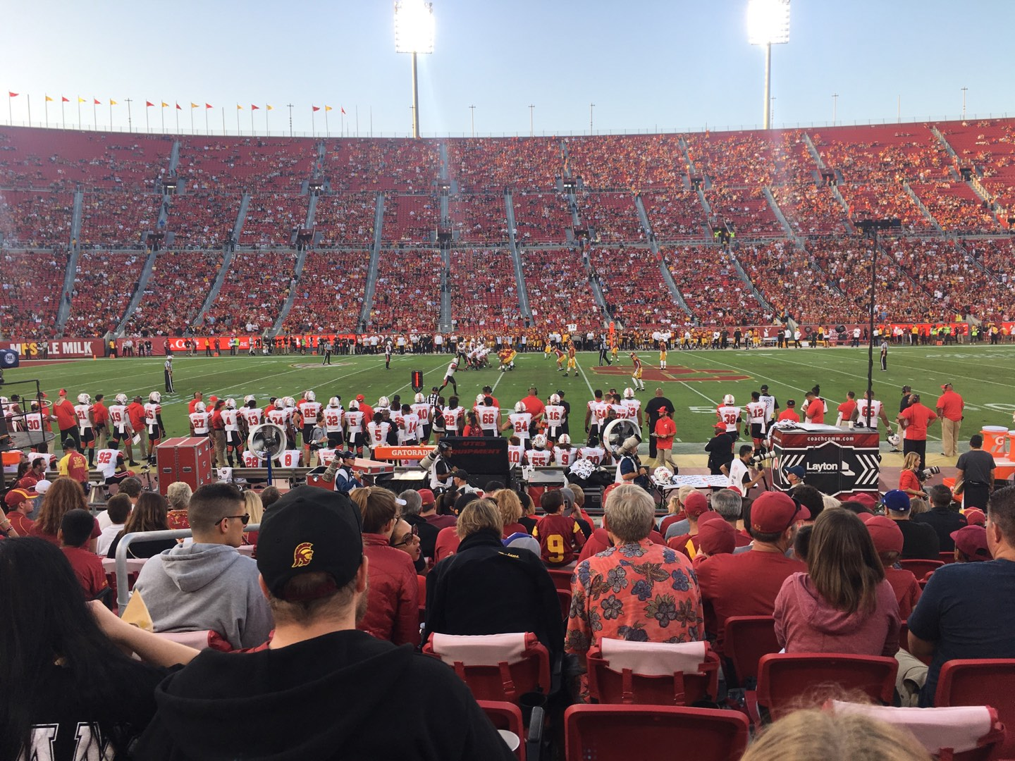 Los Angeles Memorial Coliseum Section 107A Row 12 Seat 11
