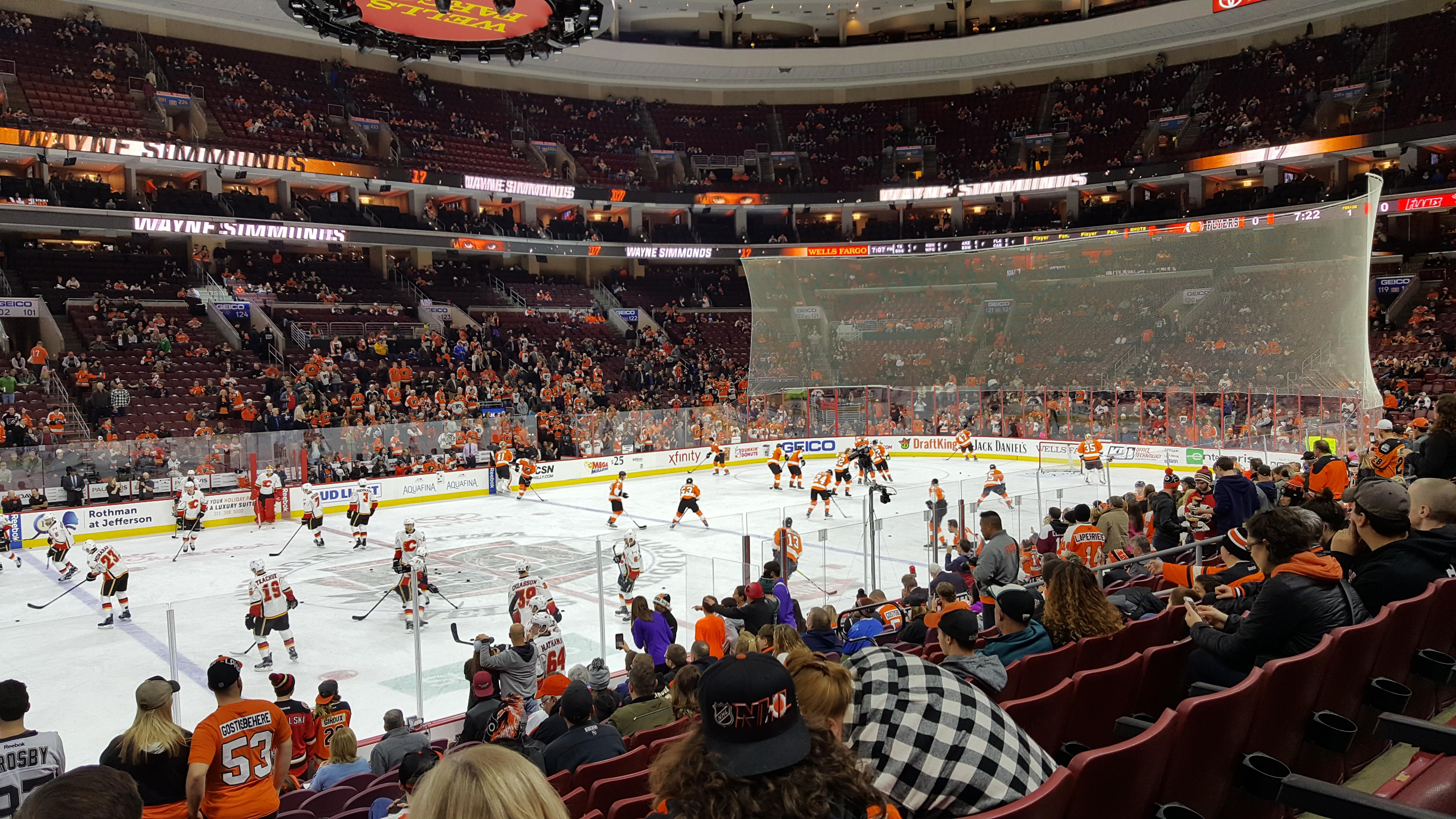 Wells Fargo Center Section 112 Row 14 Seat 4