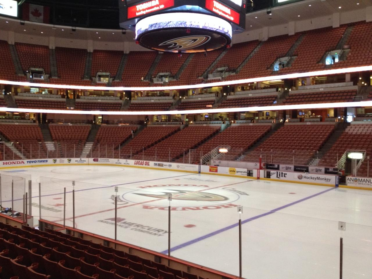 Honda Center Section 220 Row K Seat 8