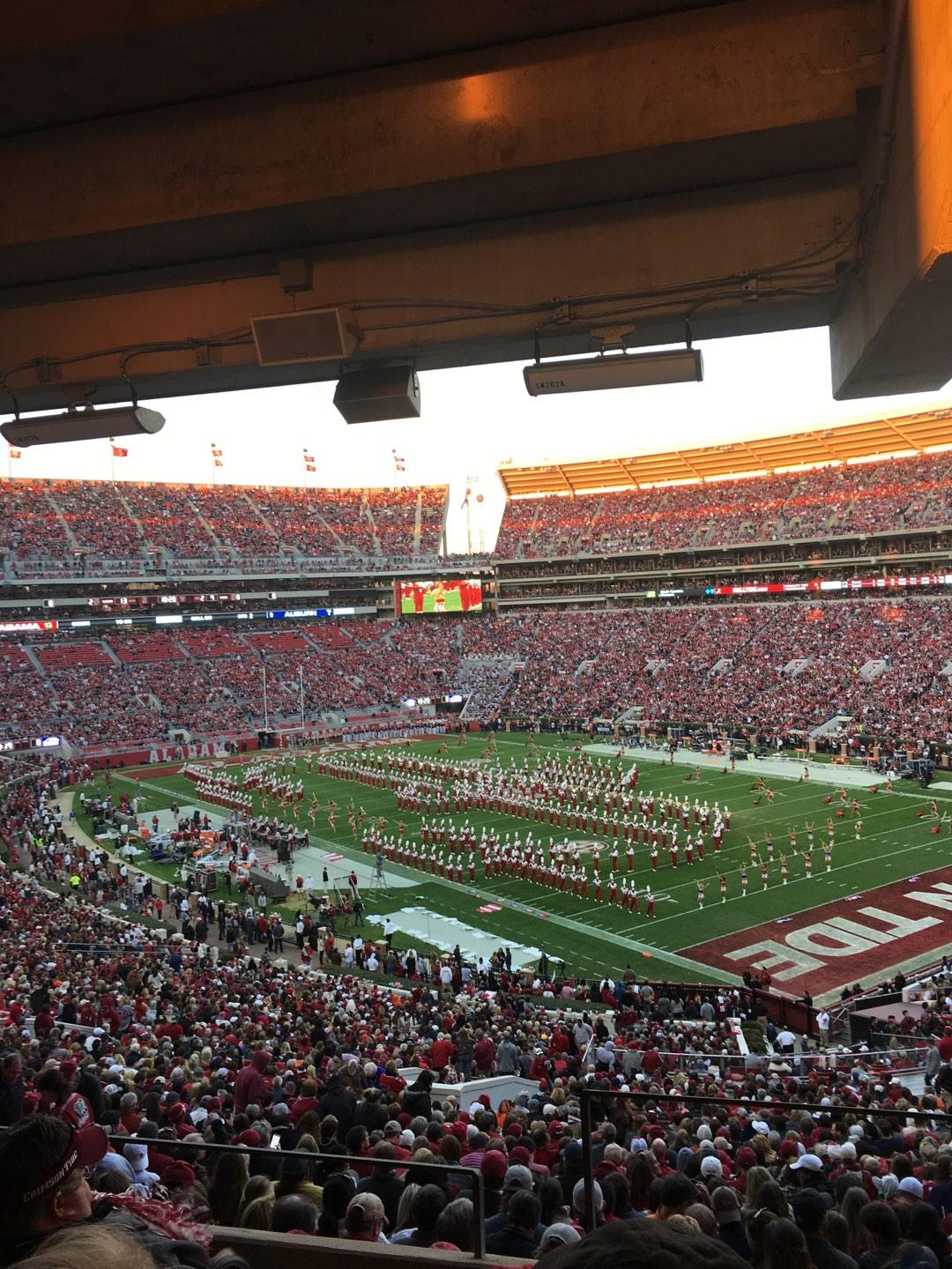 Bryant-Denny Stadium Section U1a Row 5 Seat 1