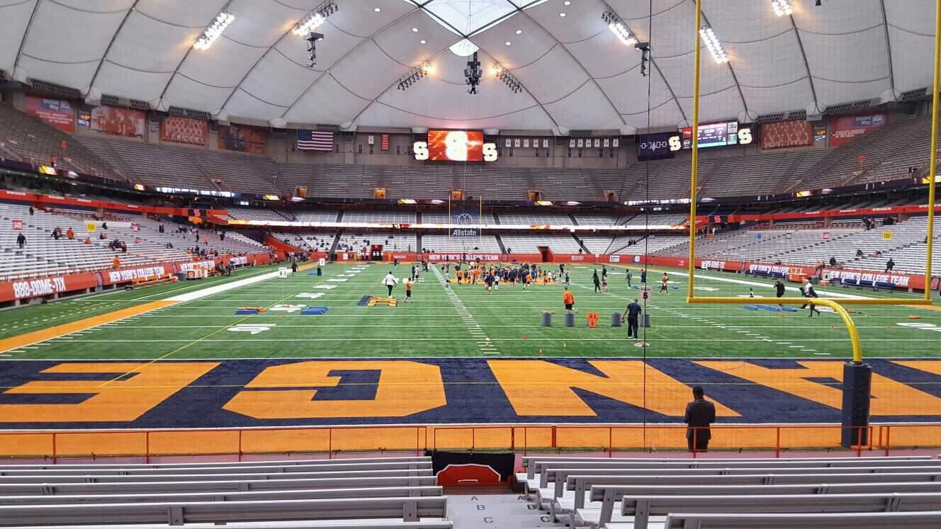 Carrier Dome Section 124 Row l Seat 1