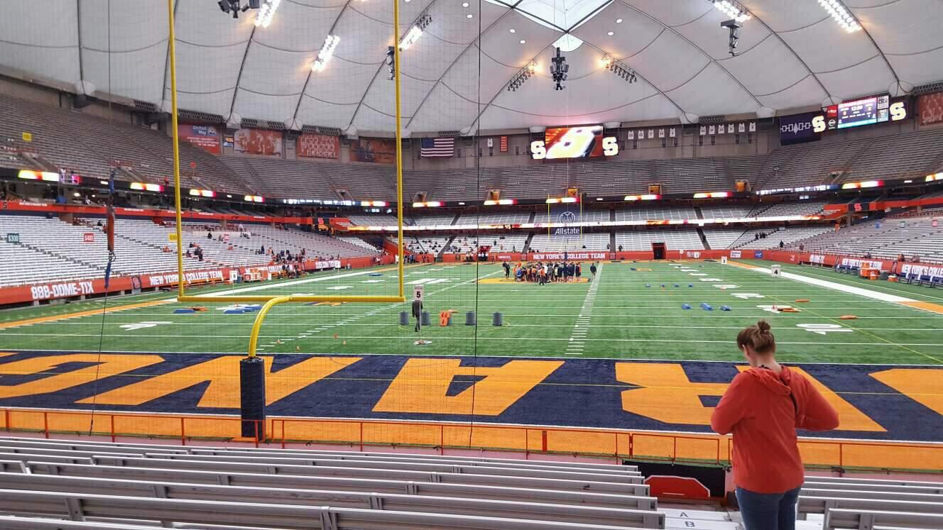 Carrier Dome Section 123 Row l Seat 1