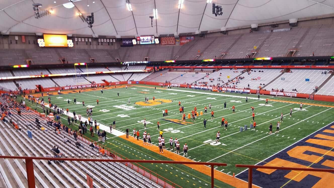 Carrier Dome Section 332 Row b Seat 8