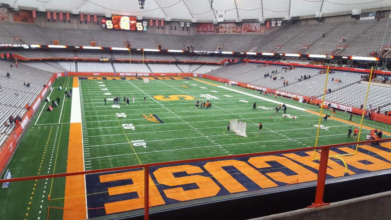Carrier Dome Section 312 Row b Seat 114