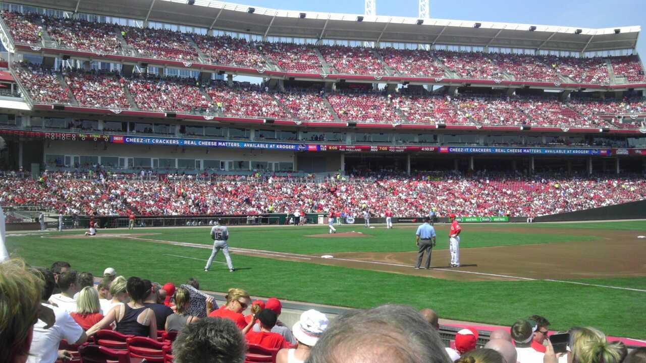 Great American Ball Park Section 133 Row I Seat 9