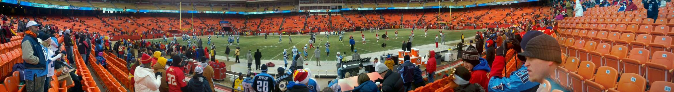 Arrowhead Stadium Section 101 Row 6 Seat 23