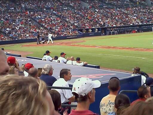 Turner Field Section 117 Row 10