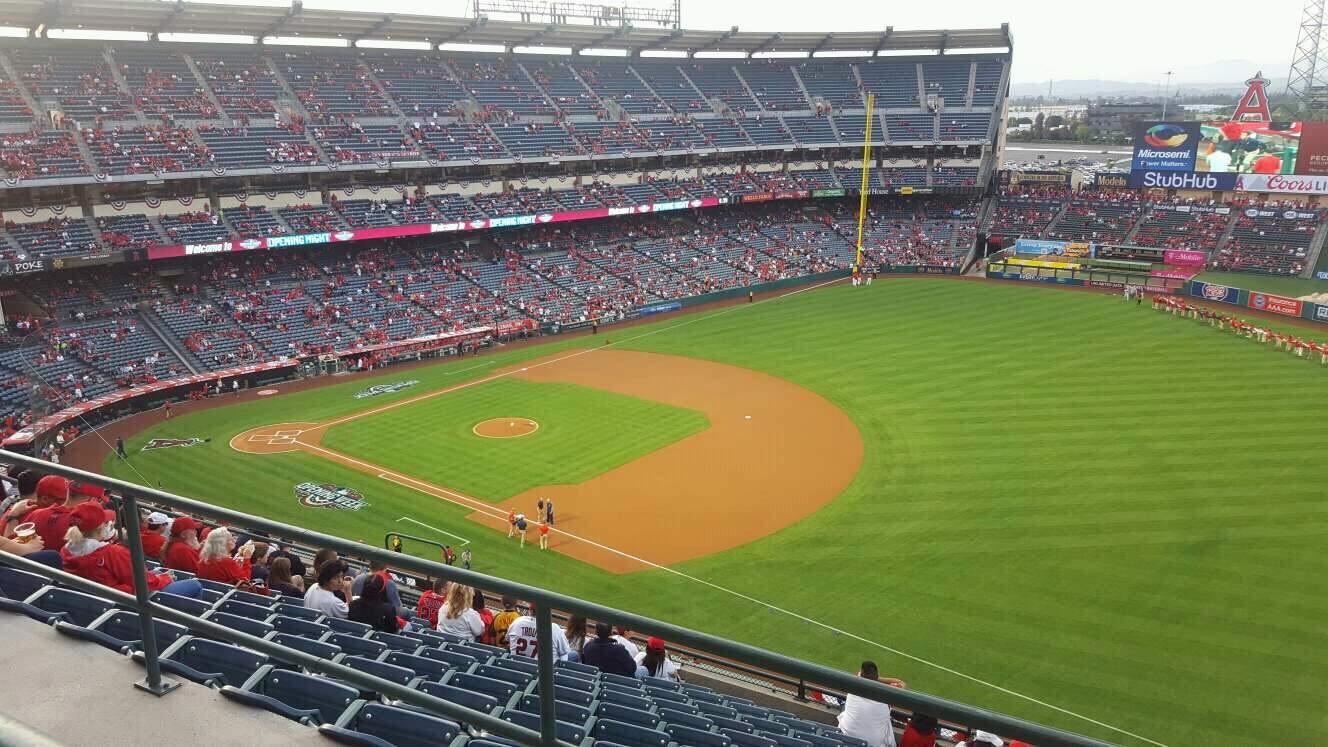 Angel Stadium Section V521 Row A Seat 21