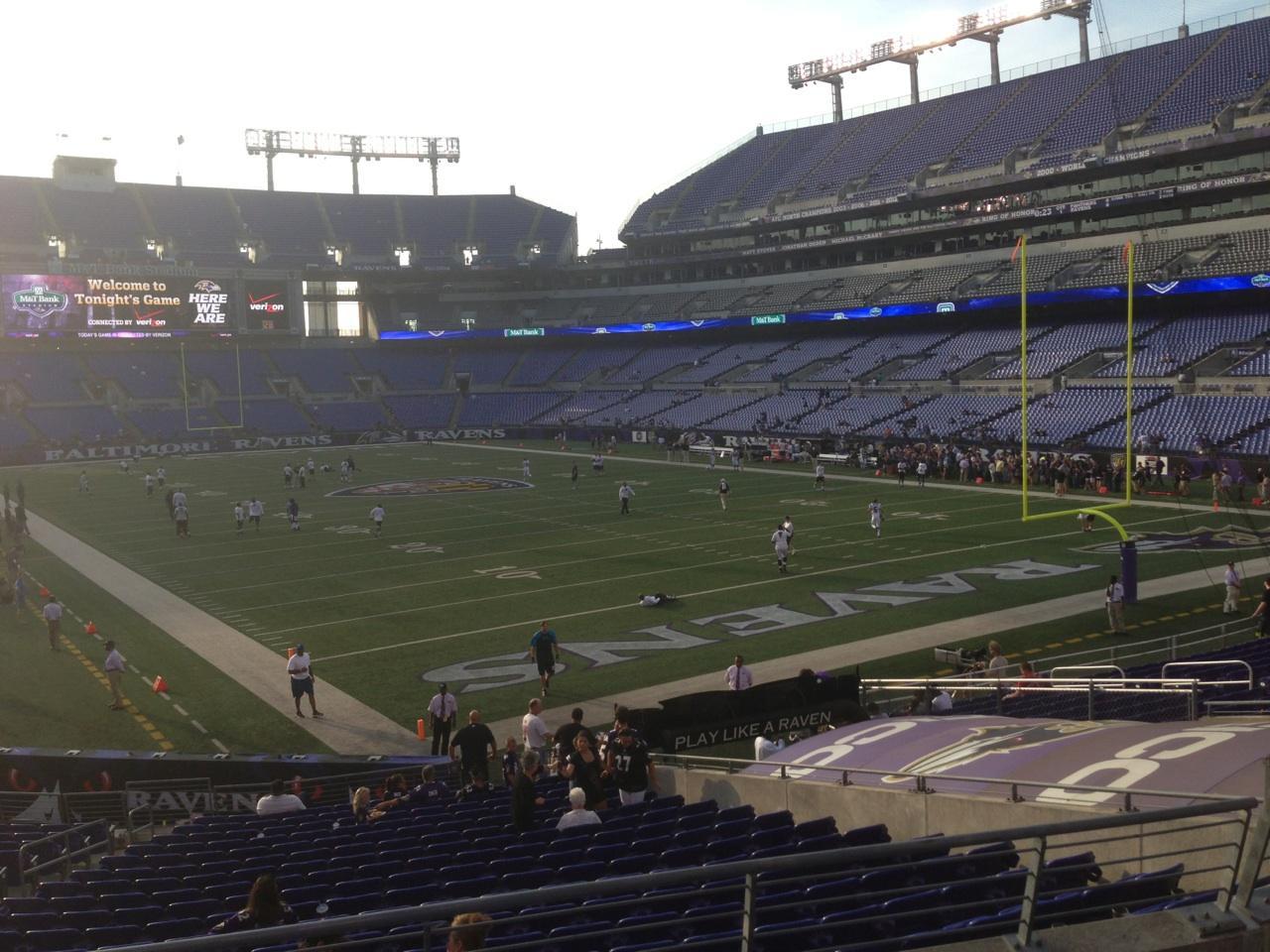 M Amp T Bank Stadium Section 117 Baltimore Ravens