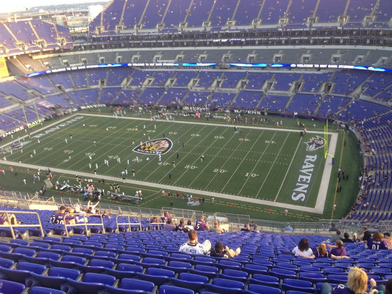 Seat View for M&T Bank Stadium Section 549, Row 28, Seat 19