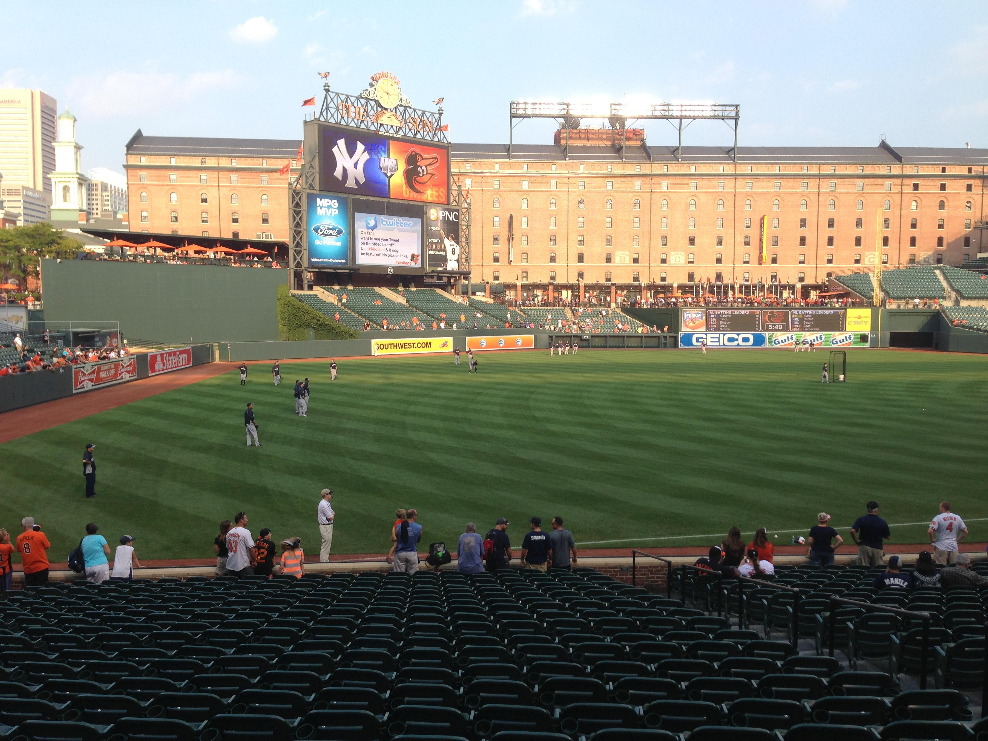 Oriole Park at Camden Yards Section 68 Row 22 Seat 7