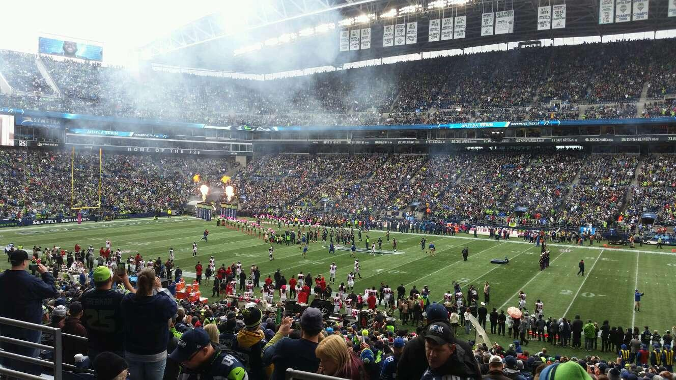 CenturyLink Field Section 206 Row C Seat 16