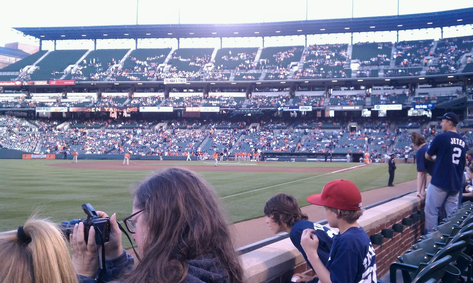 Oriole Park at Camden Yards Section 64 Row 2 Seat 16