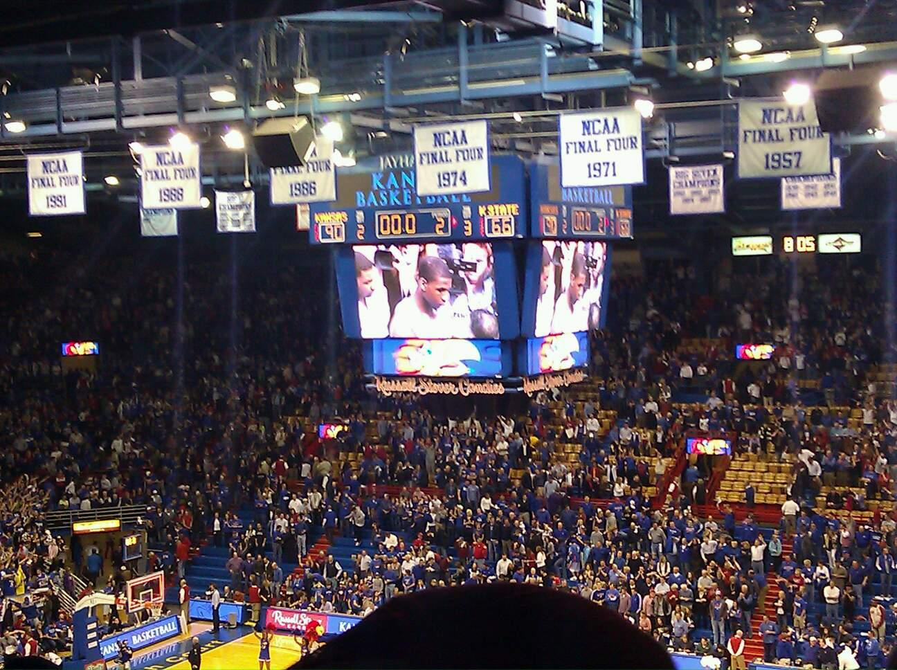 Allen Fieldhouse Section 15 Row 27 Seat 10
