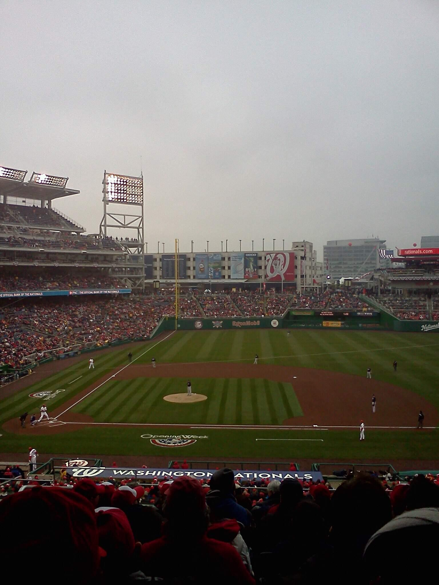 Nationals Park Section 219 Row D Seat 11