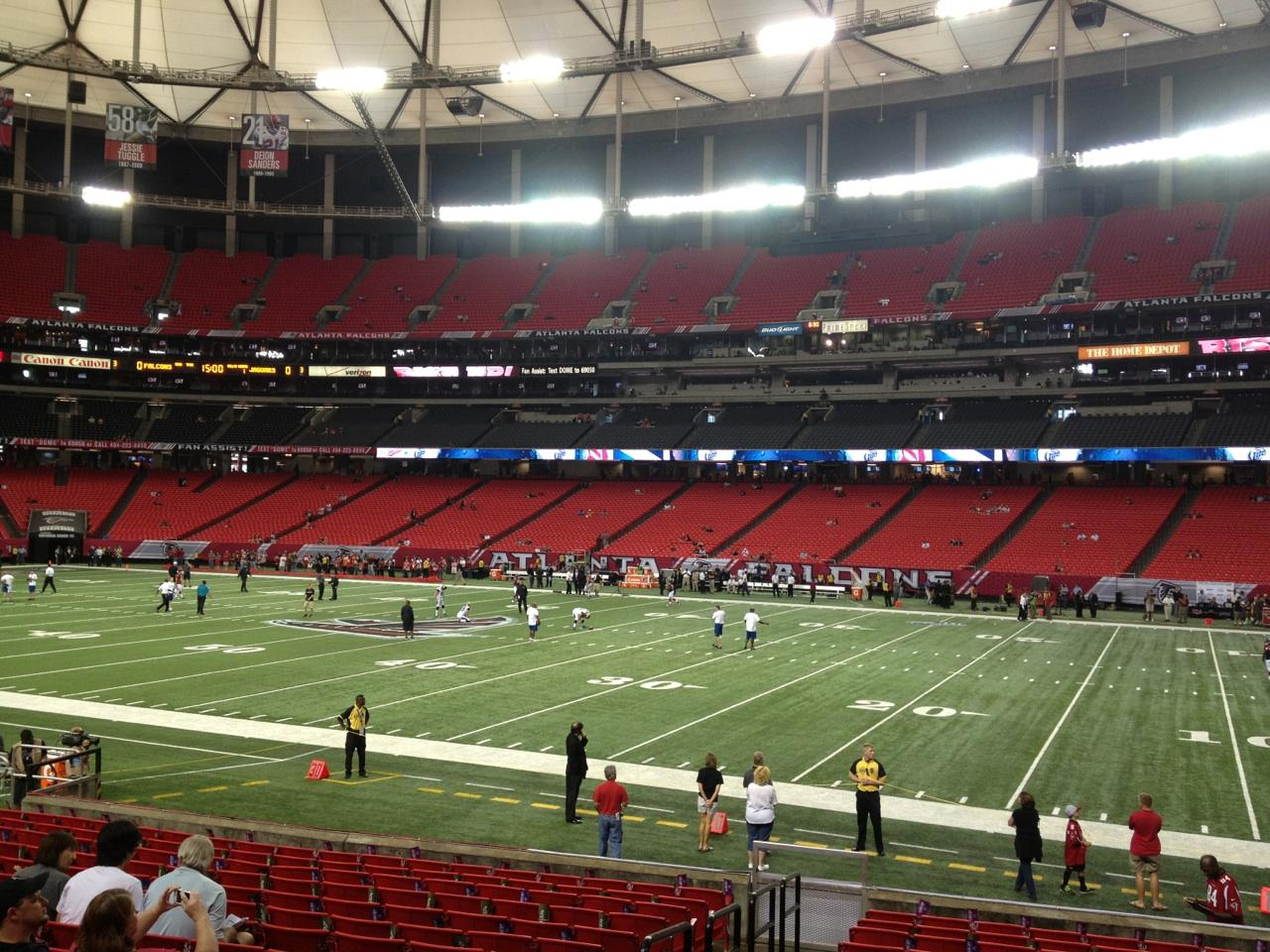 Football Seat View for Georgia Dome Section 132, Row 16, Seat 2
