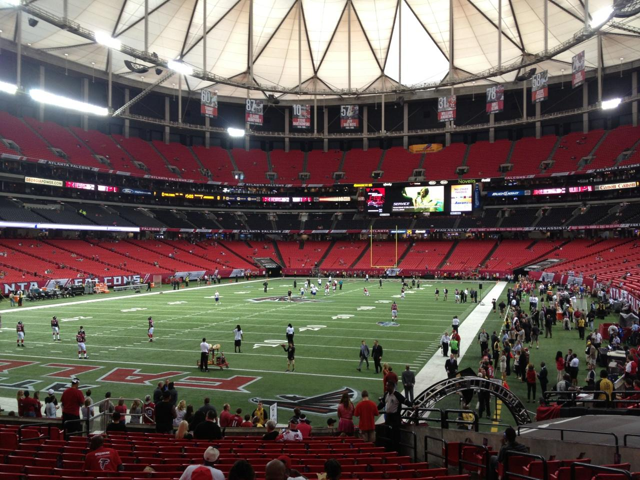 Georgia Dome Section 124 Row 6 Seat 6
