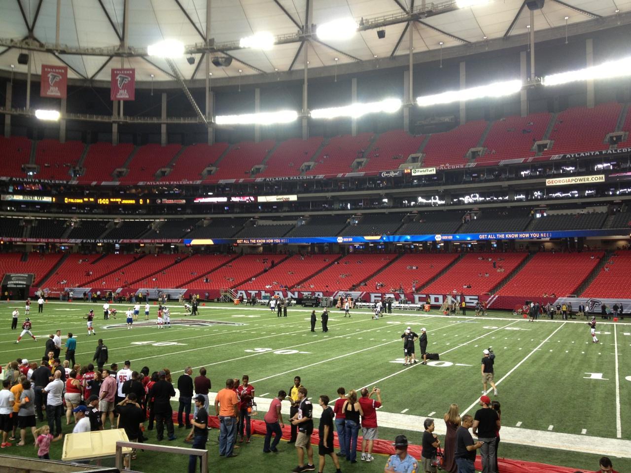 Georgia Dome Section 112 Row 8 Seat 8
