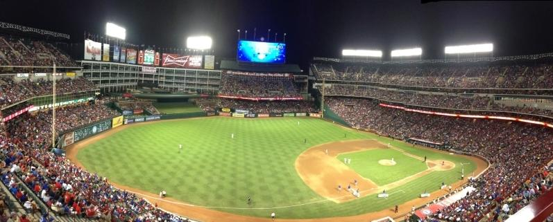 Globe Life Park in Arlington Section 316 Row 1 Seat 1