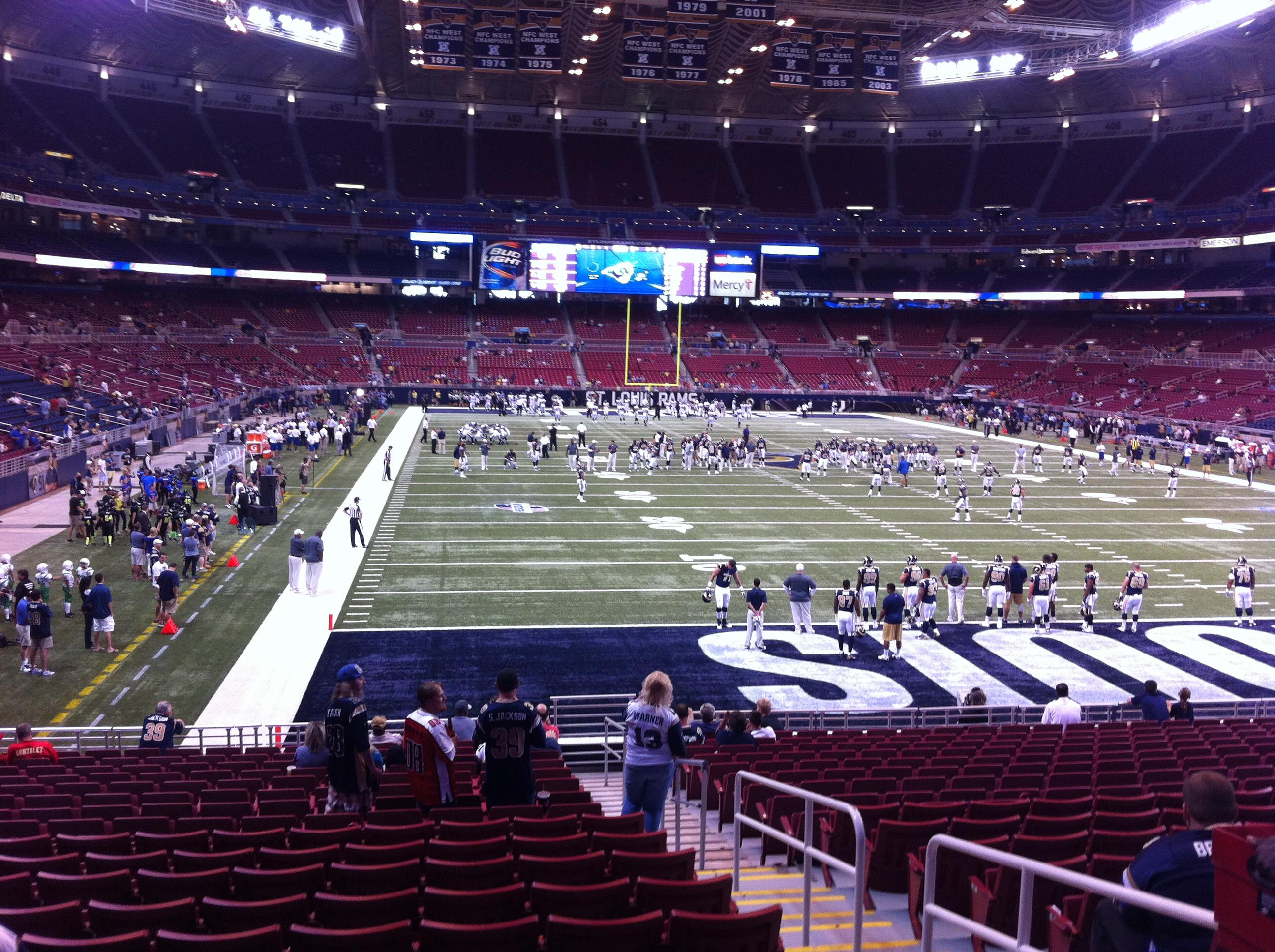 The Dome at America's Center Section 130 Row U Seat 2