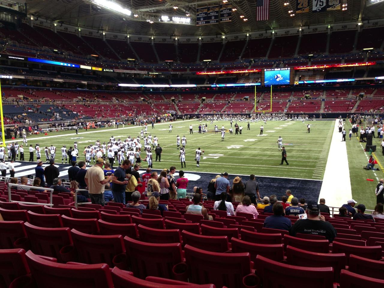 St. Louis Rams Seat View for Edward Jones Dome Section 152, Row Q, Seat 11