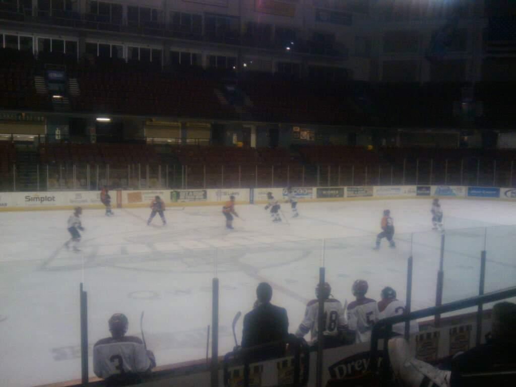 CenturyLink Arena Section 104 Row h Seat 3
