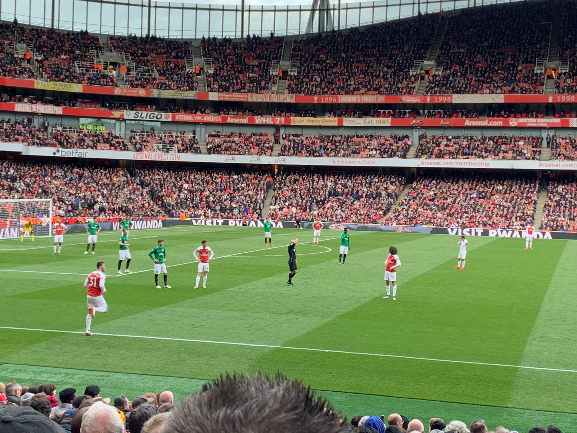 Emirates Stadium Section 2 Row 18 Seat 36
