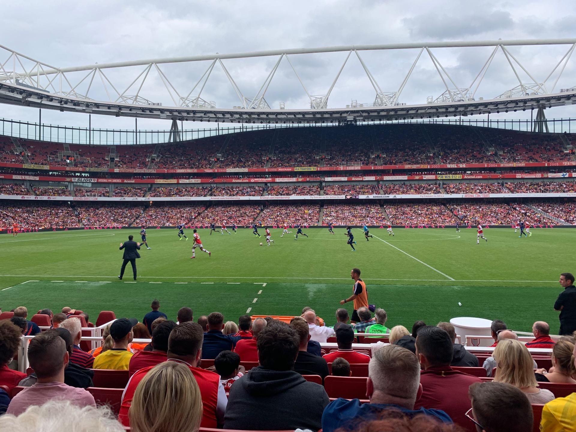 Emirates Stadium Section 1 Row 11 Seat 11