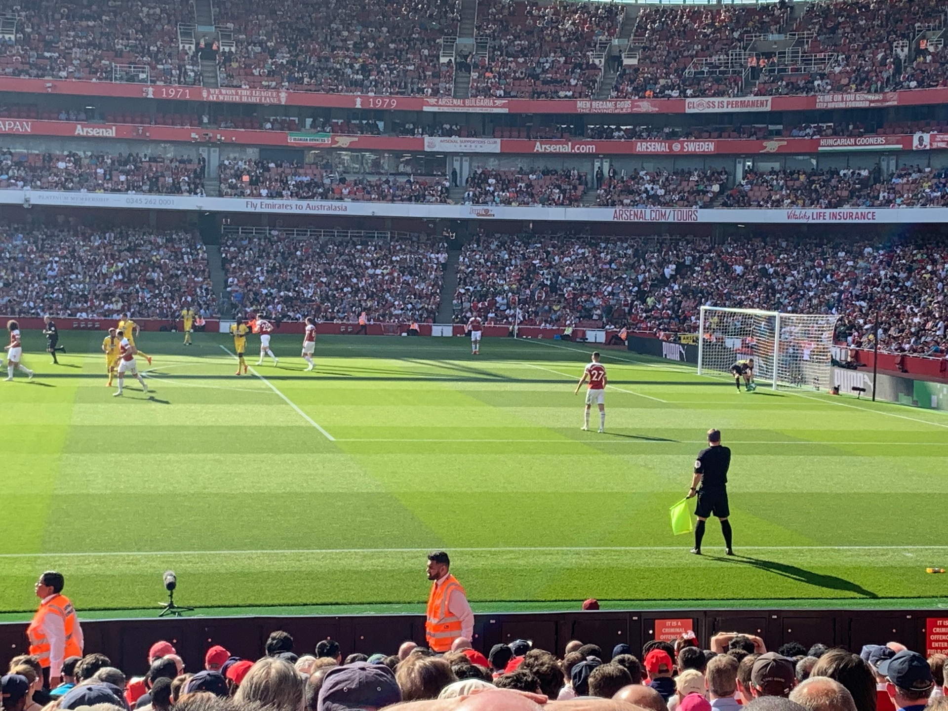 Emirates Stadium Section 16 Row 27 Seat 499