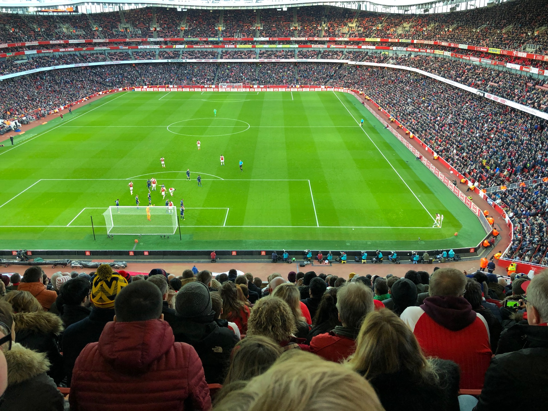 Emirates Stadium Section 123 Row 14 Seat 880