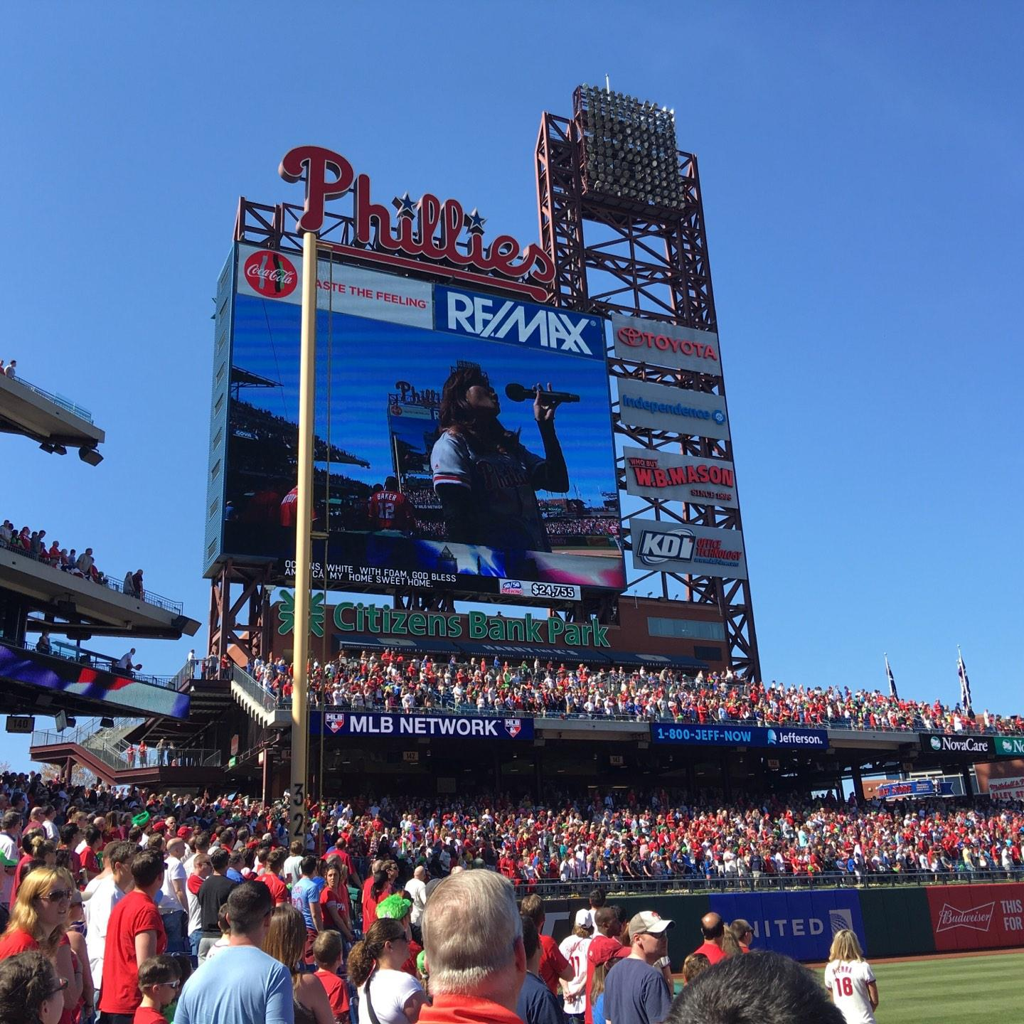 Citizens Bank Park Section 136 Row 1 Seat 4
