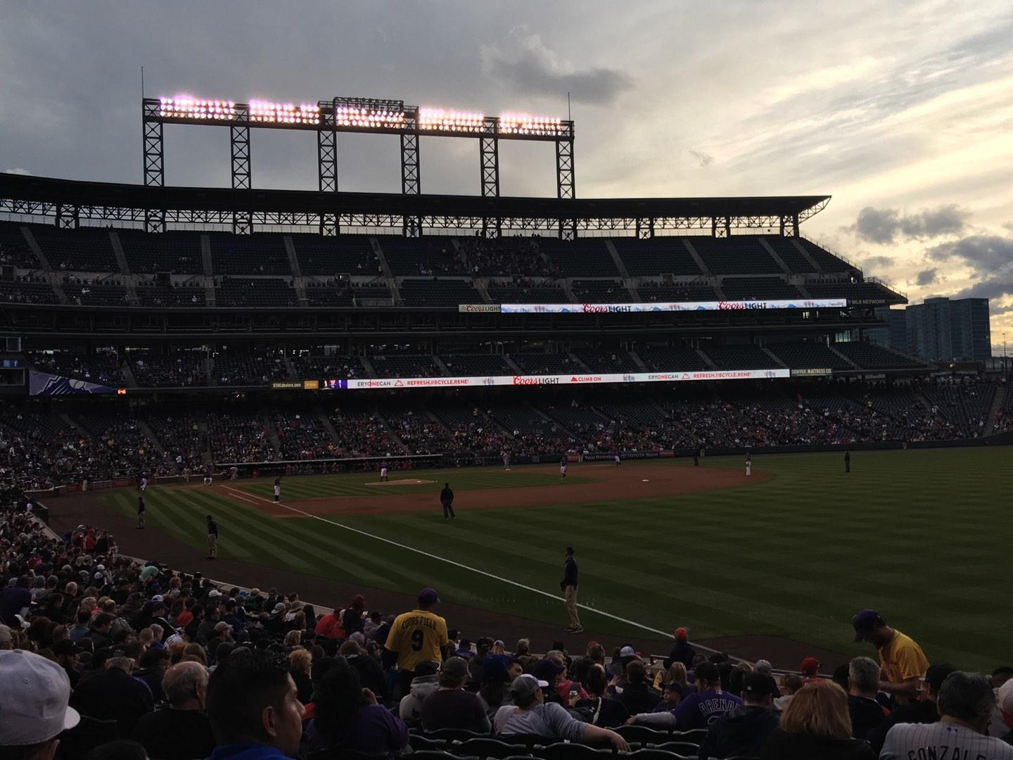 Coors Field Section 112 Row 22 Seat 4