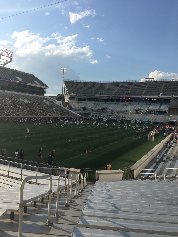 Bobby Dodd Stadium Section 131 Row 22 Seat 1