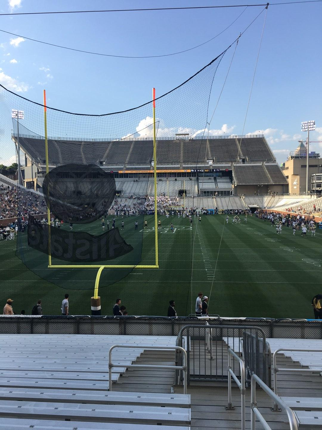 Bobby Dodd Stadium Section 134 Row 22 Seat 33