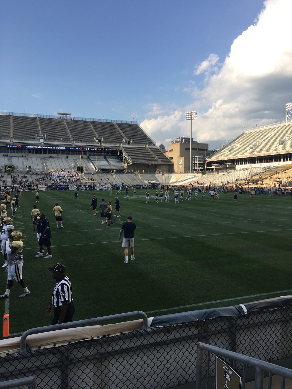 Bobby Dodd Stadium Section 136 Row 4 Seat 15