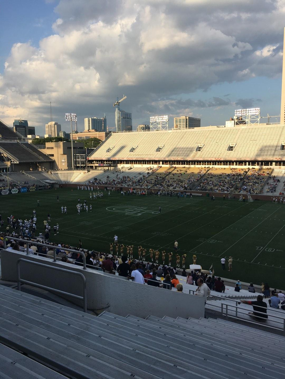 Bobby Dodd Stadium Section 102 Row 44 Seat 13